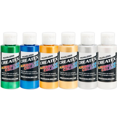 Createx Colors 2-Ounce AB Airbrush Set, (Pearl Paint Lacquer)