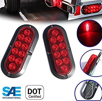 """Triple 6/"""" Oval Aluminum Mounting Boxes for LED Oval Brake Stop Turn Tail Lights"""