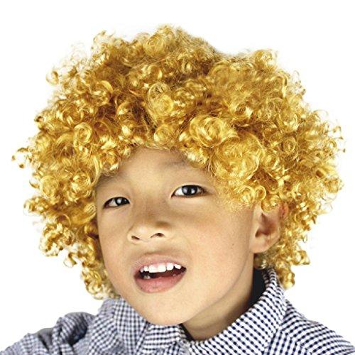 [Hair Wig,GOODCULLER (You)Hallowmas Afro Masquerade Hair Wig (yellow ochre)] (Car Costume Spider)