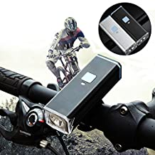 Suyi Super Bright High Power Bike Lights USB Rechargeable 3 Modes T6 Bike Bicycle Front Headlights 885 Lumen USB Rechargeable Waterproof Flashlight