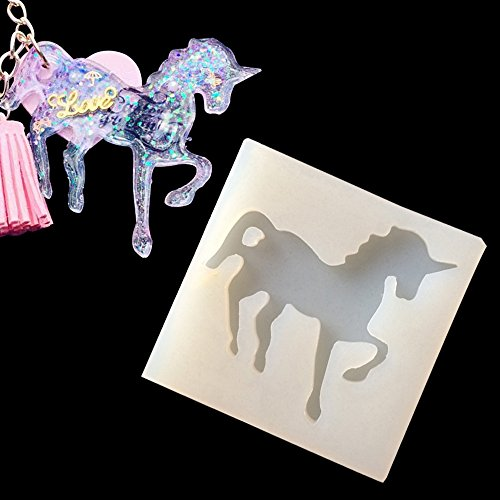 WYD Jewelry Beading Casting Mold, DIY Handmade Silicone Epoxy Mold, Clear Mold For Resin, Crystal ,Square, Unicorn Gift