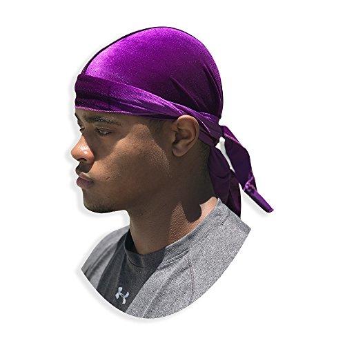Velvet Du-RAG -Premium Quality- Wave Cap-Durag (Purple) ()