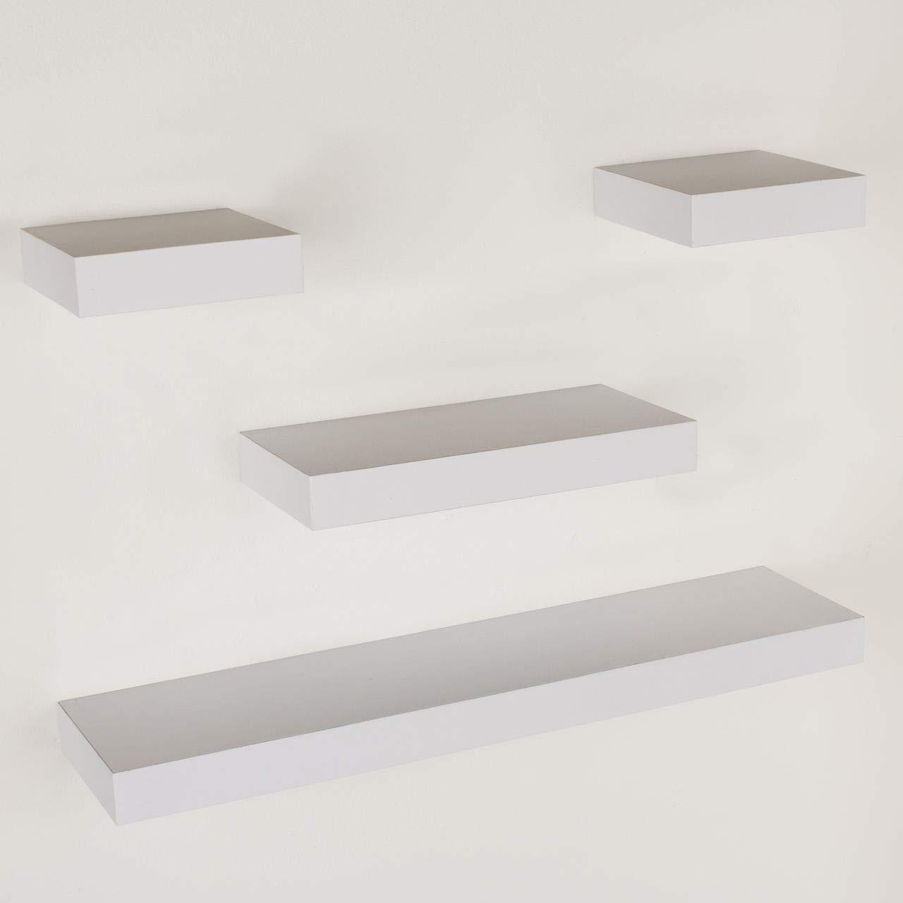 Design Vicenza Enna Sets Shelving 4 pcs narrow hudson floating shelf pack - matt White
