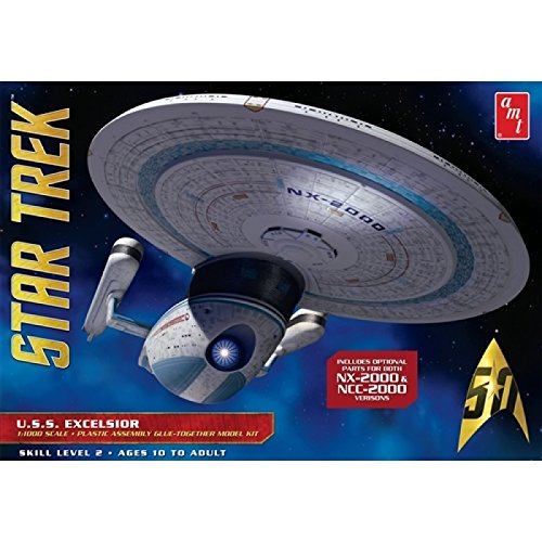 Star Trek U.S.S. Excelsior 1:1000 Scale Model Kit - Decals Model Kits