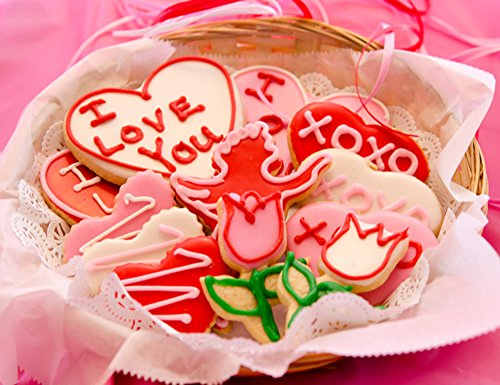 House Valentine's Day Sugar Cut-out Collection (12 Cookies)