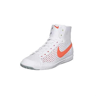d525960faf01 Nike Womens Blazer Mid High Top White Leather Sneakers-White-6
