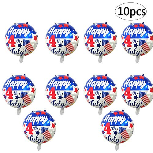 - BinaryABC Happy 4th of July Balloons,American Flag Patriotic Balloons,Fourth of July Independence Day Party Supplies,10Pcs