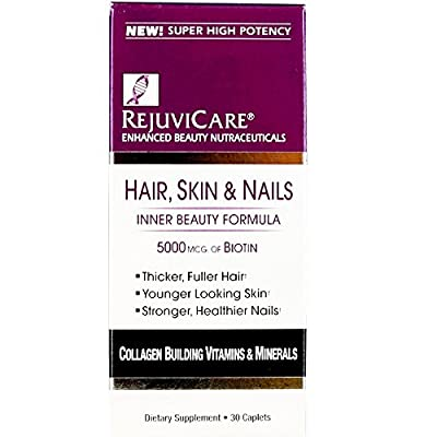 RejuviCare Hair, Skin & Nails Formula Caplets 30 ea ( Pack of 4)