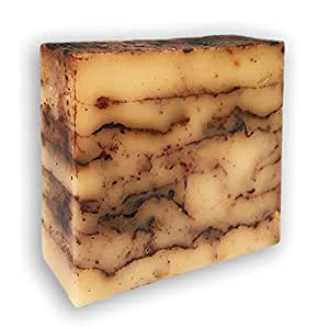 African Black Soap - Handmade w Natural Shea Butter, Brown Sugar & Bamboo Charcoal - Great for Acne Treatment, Eczema, Dry Skin, Psoriasis, Scar Removal, Dandruff, Pimples, Cleansing Face & Body Wash
