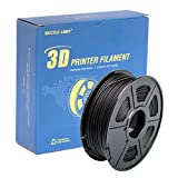 DAZZLE LIGHT 3D Printer PLA Filament 1.75mm Dimensional Accuracy +/- 0.02 mm 2.2 LBS (1KG) Spool, Black