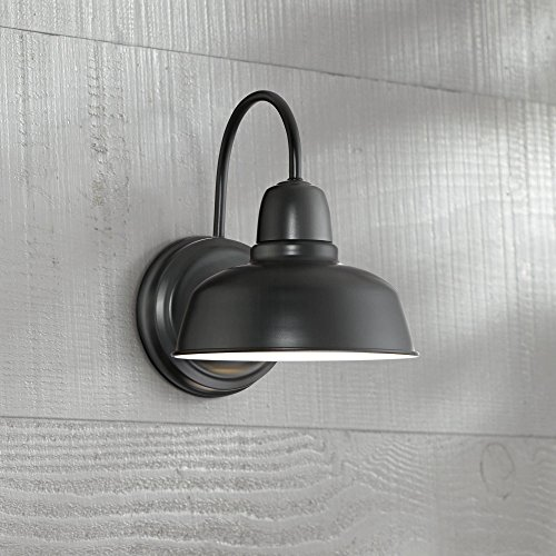 Urban Barn Rustic Outdoor Wall Light Fixture Farmhouse Black 11 1/4 Sconce for Exterior House Deck Patio - John Timberland