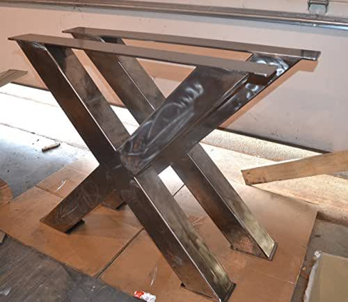 Metal table legs x frame style any size and for Table extensible metal bois