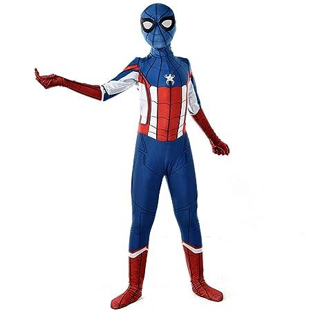NDHSH Spider-Man Capitán América Cosplay Traje de Mono, Disfraz ...