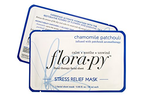 Mask Single (Florapy Aromatherapy Sheet Mask Stress Relief Chamomile Patchouli (Single))