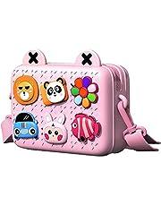 Richgv Toddler Girls Boys Handbag Fashion Shoulder Bag Crossbody Mini Camera Bag for Kids Purse for Little Girls School Bag for Children Easy to Clean Birthday Gifts(Pink)