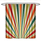 Best All Around Fishing Lines - Anniutwo Vintage Decor Collectionkids Shower curtainVintage Multicolor Lines Review