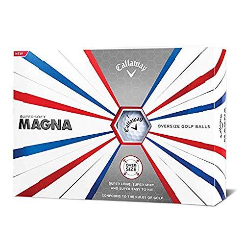 Lift Magna - Callaway Golf Supersoft Magna Golf Balls, (One Dozen), White