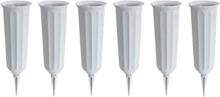 product image for Stone Plastic Cemetery Vase, 6-Pack