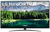 LG 55SM8600PUA Nano 8 Series 55' 4K Ultra HD Smart LED NanoCell TV (2019), Black