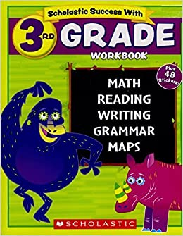 Scholastic 3rd Grade Workbook With Motivational Stickers