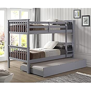 Amazon Com Walker Edison Twin Roll Out Trundle Bed Frame