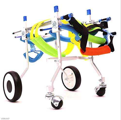 L MEI Pet Backpacks Dog Wheelchair, Pet Moped Dog Disabled Car Rear Leg Auxiliary Bracket Size Can Be Adjusted Freely Support Rehabilitation (Size   L)