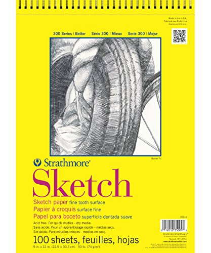 strathmore-9-inch-by-12-inch-spiral-sketch-book-100-sheet