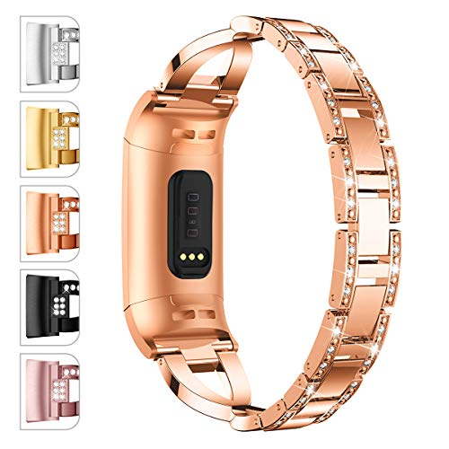 JOMOQ Compatible with Charge 3/3 SE Bands, Classic Stainless Steel Bands Premium Metal Wristbands with Adjustable Butterfly Clasp Repacement Band Wrist Accessories Straps Women Men