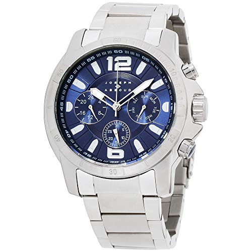 Joseph Abboud Navy Dial Stainless Steel Men's Watch JA3212S648-004, Silver/Navy