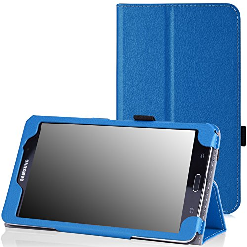 MoKo Samsung Galaxy Tab 4 7.0 Case - Slim Folding Cover Case Stand, BLUE (Compatible with Tab 5 7.0 2015 Tablet, NOT Fit Samsung Galaxy Tab 3 7.0)
