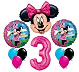 Minnie Mouse #3 3rd Third Happy Birthday Balloon Party Set Mylar Latex Disney by Anagram