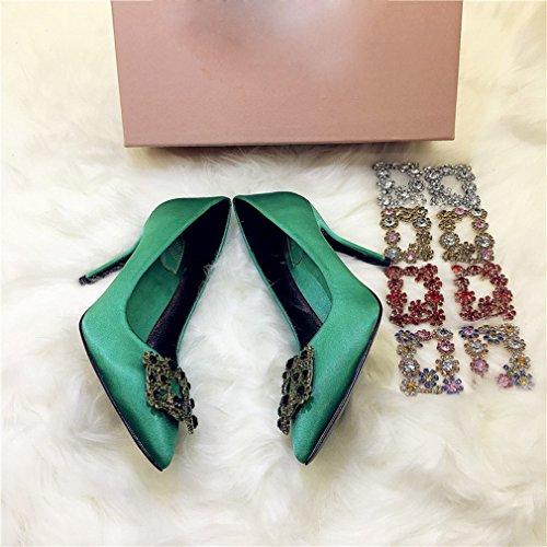 Zapatos de Tacón Alto con Zapatos de Mujer Fina Re