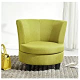 SCM Green Single Round Sofa Lazy Couch Tatami Bedroom Balcony Modern Minimalist Nap Comfortable Fabric Soft Chair 69×56cm