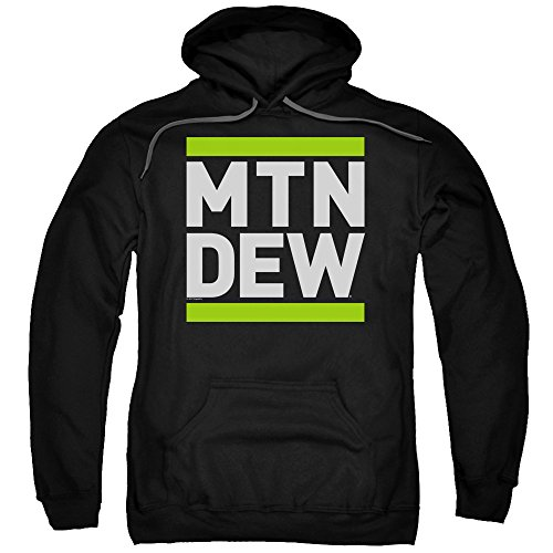 Trevco Mountain Dew Run Mtd Unisex Adult Pull-Over Hoodie For Men and Women