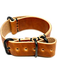 Military Watch Strap - Natural Dublin (PVD Buckle) : 26mm