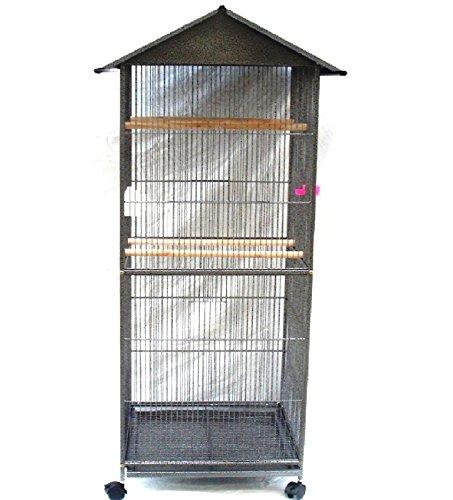 Jaula de pájaros grande Pet Zone de color gris para loros ...