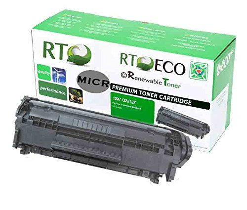 Renewable Toner 12X Q2612X Compatible MICR Toner Cartridge for Check Printing with HP LaserJet 1010 1012 1015 1018 1020 1022 3015 3020 3030 3050 3052 3055 M1319 by Renewable Toner