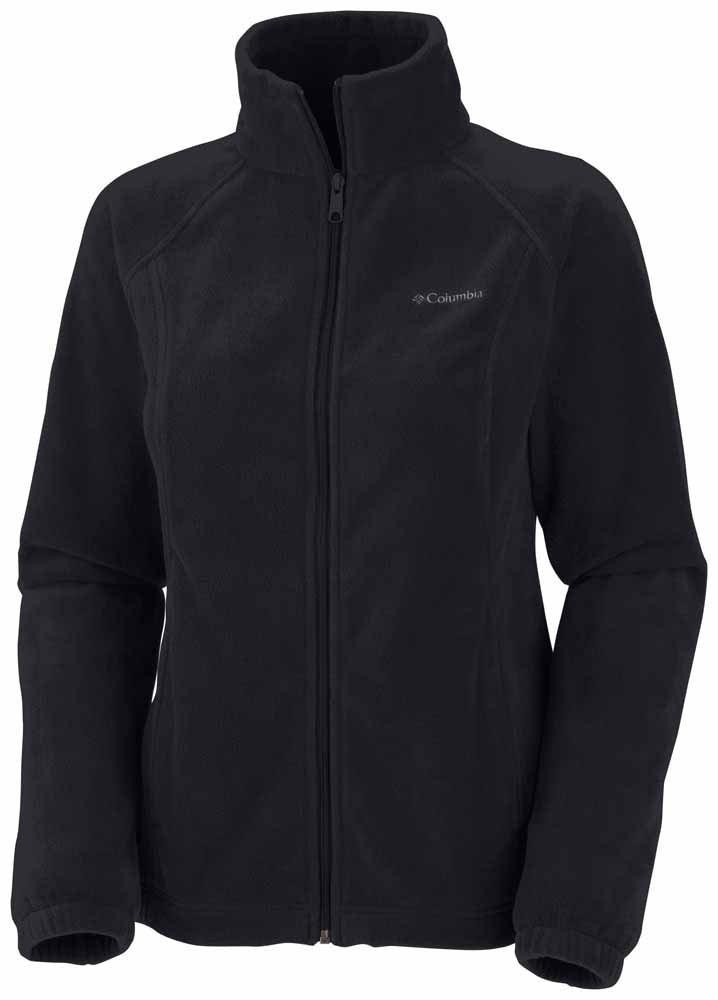 Columbia Women's Benton Springs Classic Fit Full Zip Soft Fleece Jacket, black, S