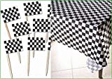 Racing Theme – Black and White Checkered Table Cover and 144 Race Car Flag Picks – Party Pack!, Health Care Stuffs