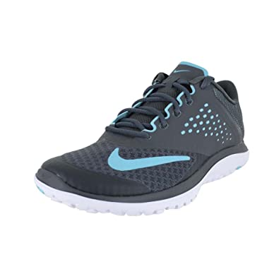 best loved 5a93e d79cb Nike Women's FS Lite Run 2 Shoe, Dark Grey/Polarized Blue/White,