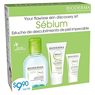 Bioderma Sébium | Set of Micellar Water, Mat Control and Pore Refiner | Discovery Kit for Oily Combination Skin, Perfect Size for Travel (Value Pack)