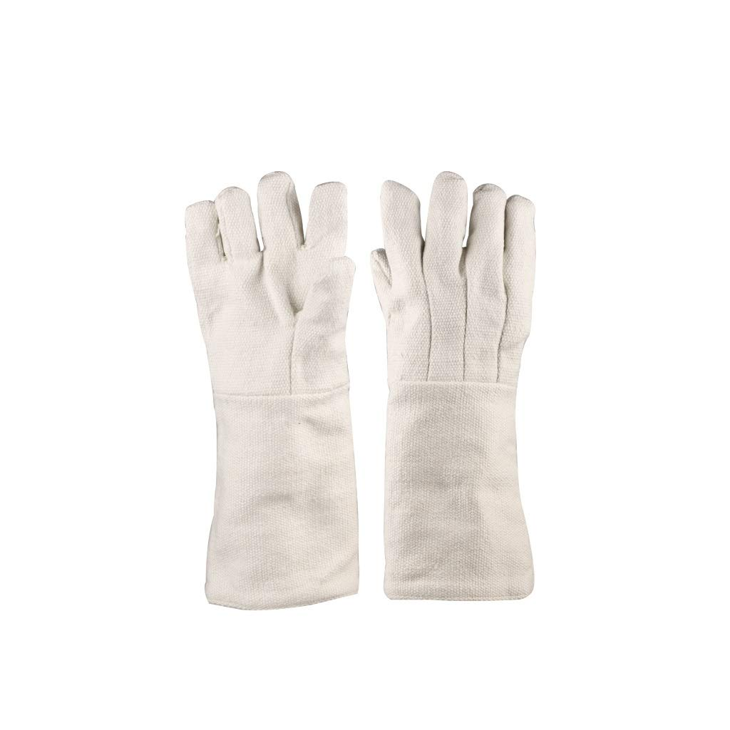 YYTLST High Temperature Resistant Gloves, Insulated Gloves, Ceramic Fiber Resistant to 1000 Degrees, Suitable for Industrial Experimental Welding by YYTLST