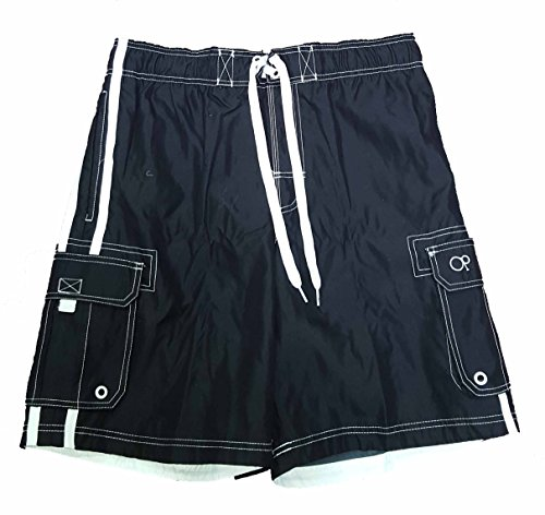 op-black-solid-side-stripe-tugger-above-knee-205-outseam-swim-trunks-x-large
