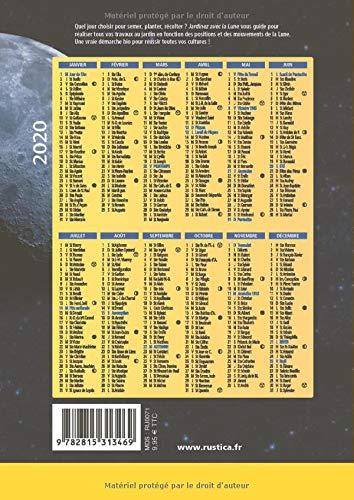 Calendrier Lunaire Juillet 2021 Rustica Amazon.fr   Jardinez avec la Lune   Marin, Michel, Frances