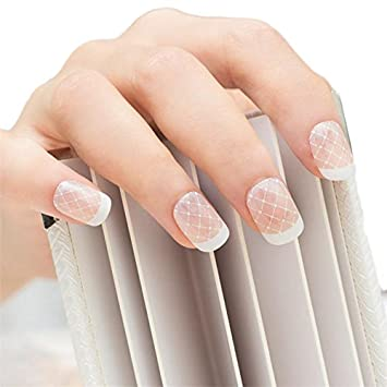 Amazon Jindin 24 Sheet Natural French Fake Nails Acrylic Nail