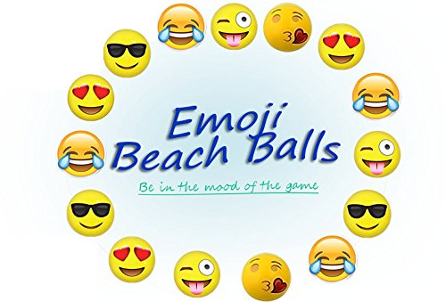 Beach Ball Invitation (Moji Emoji Inflatable (12 pack) Pool Party Beach Balls)