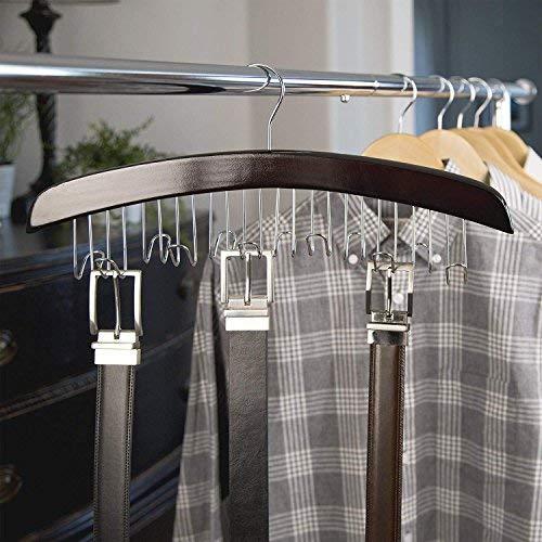 Richards Homewares Closet Accessories 12 Belt Hardwood Hanger Walnut (1-Pack)