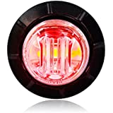 "Maxxima M09300RCL Red 3/4"" Round LED Clear Lens Combination Clearance Marker Light"