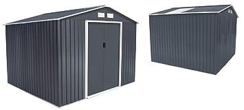 Abri De Jardin En Metal 5 29 M Kit D Ancrage Offert Amazon Fr