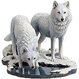 Veronese (ヴェロネーゼ) 2匹の白狼 動物 冬の戦士たち リサ・パーカー 置物 フィギュア